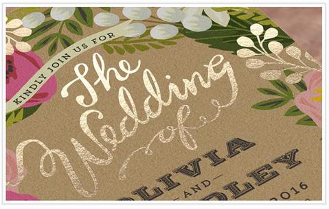 Tipos de impresión para tus invitaciones de boda